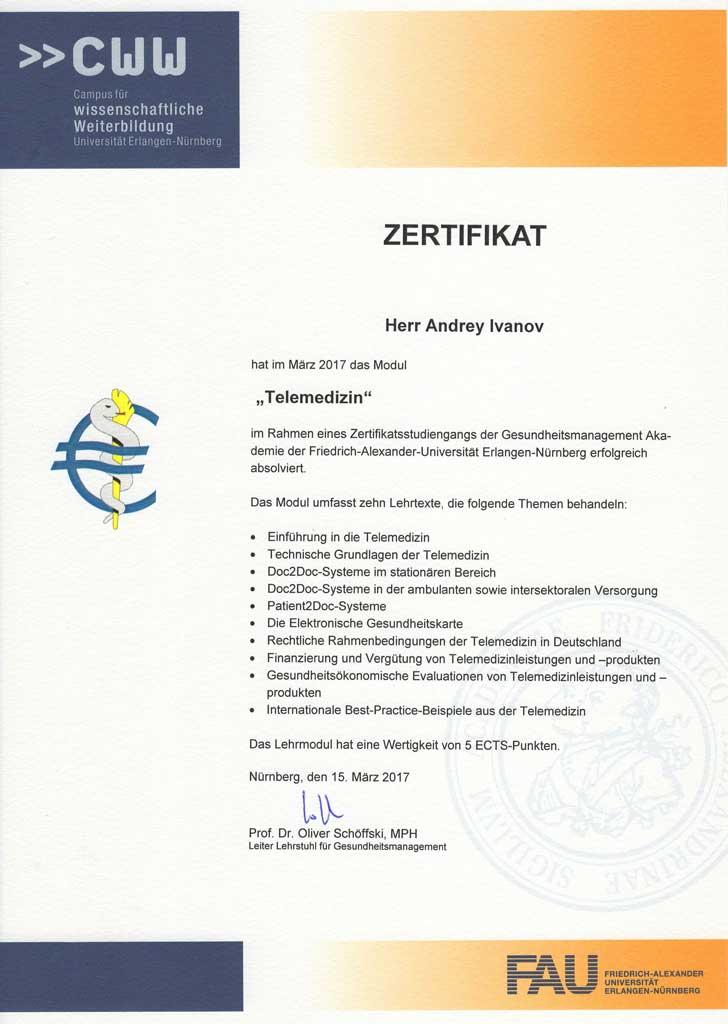 Urologie-Zittau-Zertifikat-Telemedizin